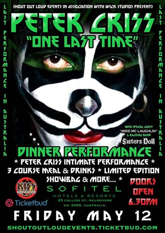 Original Kiss Drummer Peter Criss Heading to Australia for